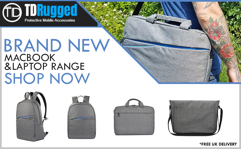 TD Rugged Protective Laptop Bags Banner